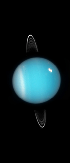Uranus in 2005 as seen by the Hubble Space Telescope. (Image credit: NASA)