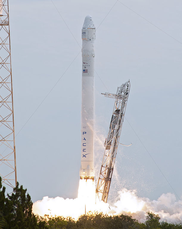 The Falcon 9 launching.  (Image credit: NASA)