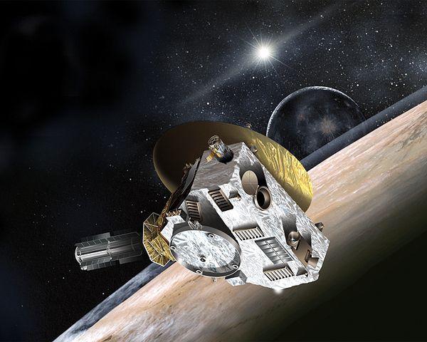 An artist's rendering on New Horizons at Pluto. (Image credit: NASA)