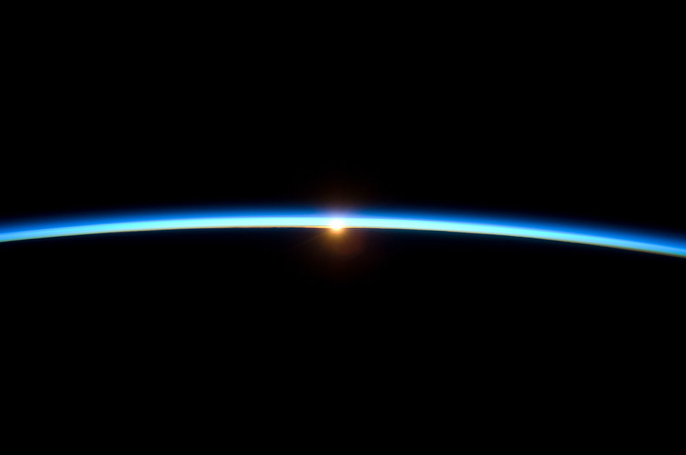 Earth's atmosphere from the International Space Station. (Image Credit: NASA Image of the Day)