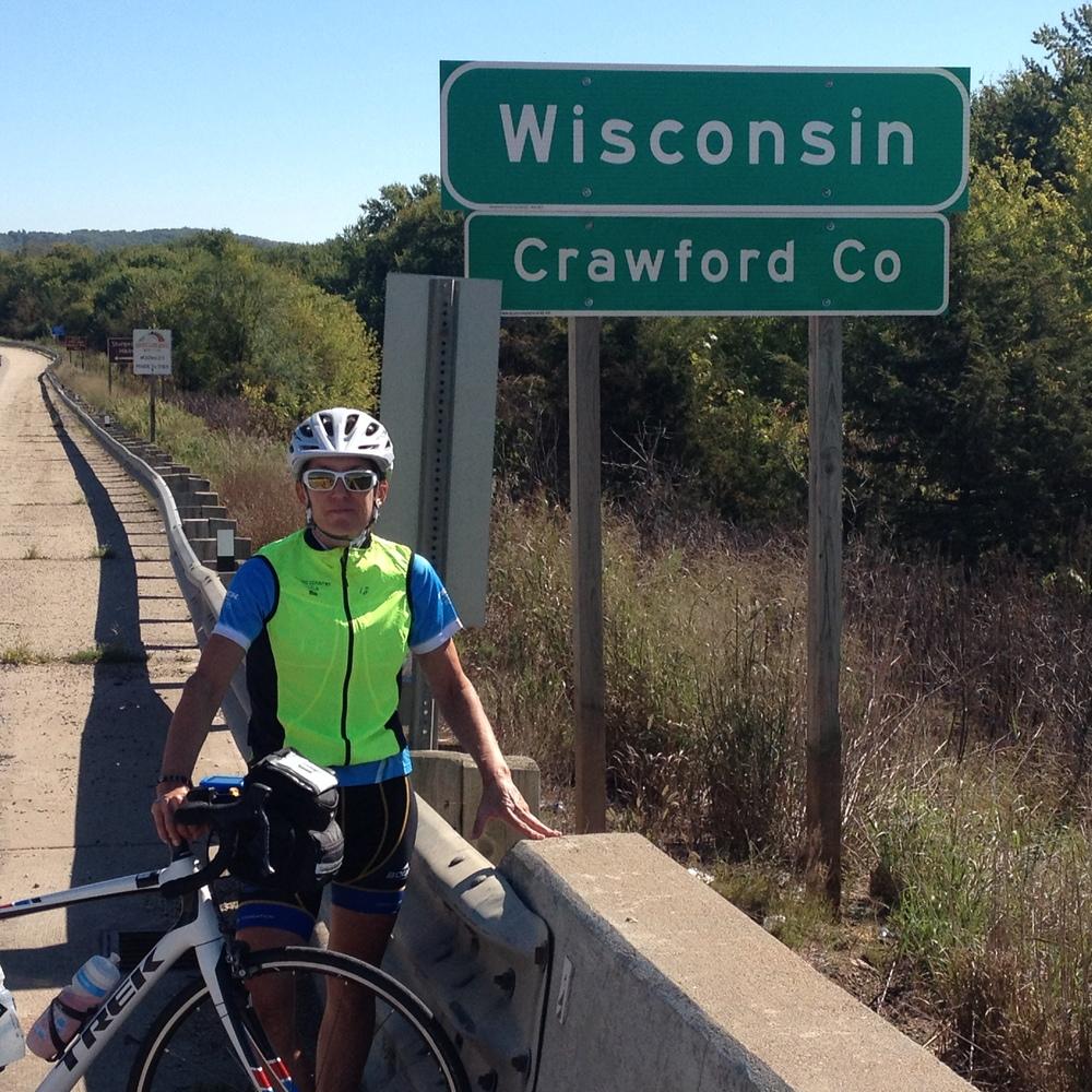Entering Wisconsin