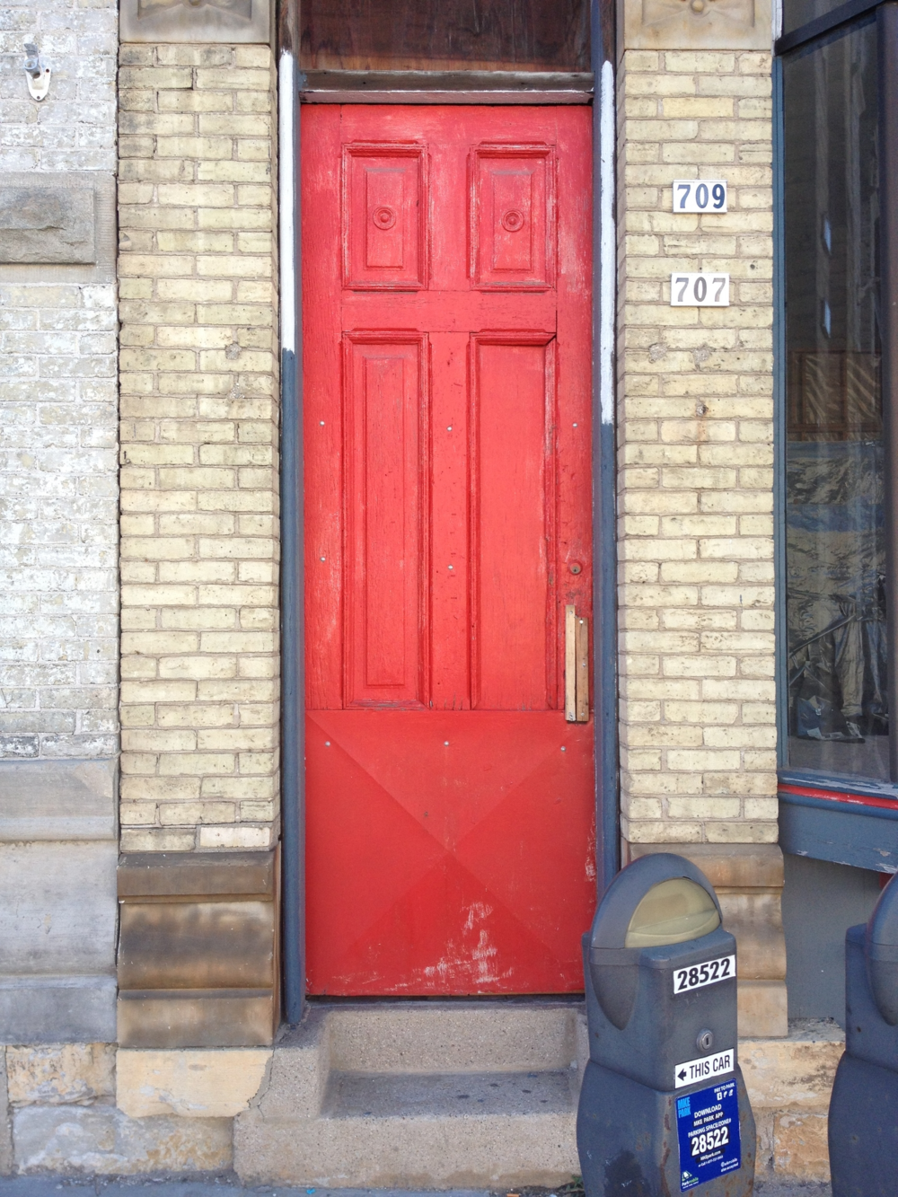 Tall Red Door