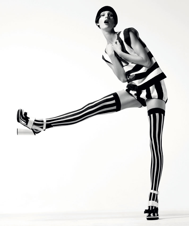 harpersbazaar :      Graphic Impact    Gregory Harris, February 2013