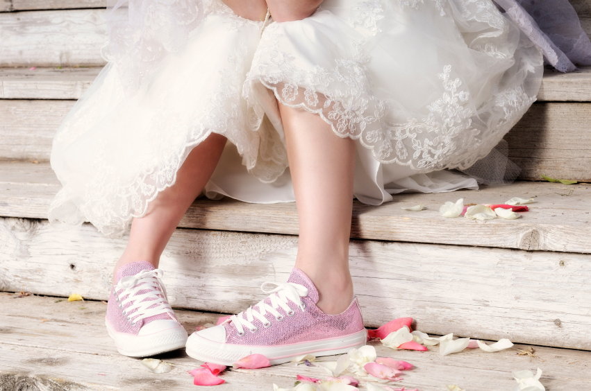 Wedding Bride Pink Converse Shoes