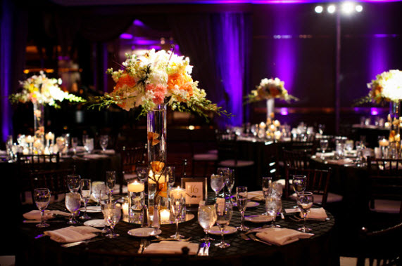 Jared Wade | Indianapolis LED Pin Spot Lighting | Flowers Floral