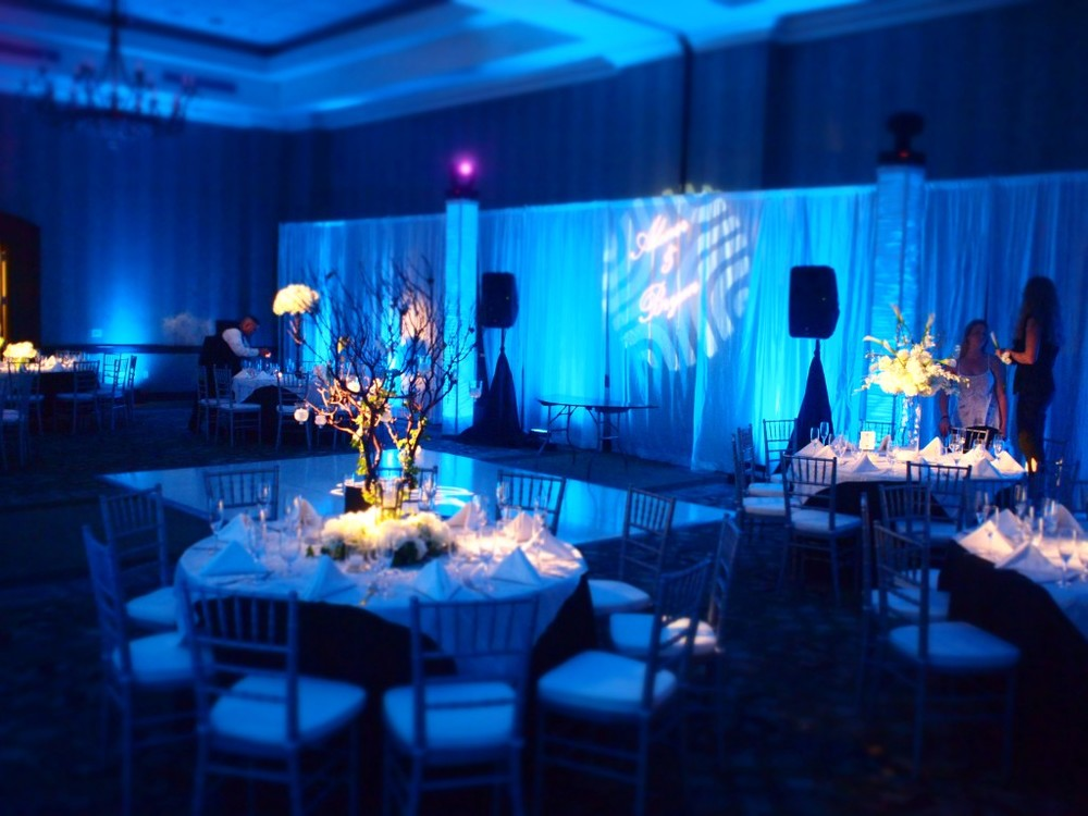 Jared Wade | Indianapolis LED Pin Spot Lighting | Tables and Floral