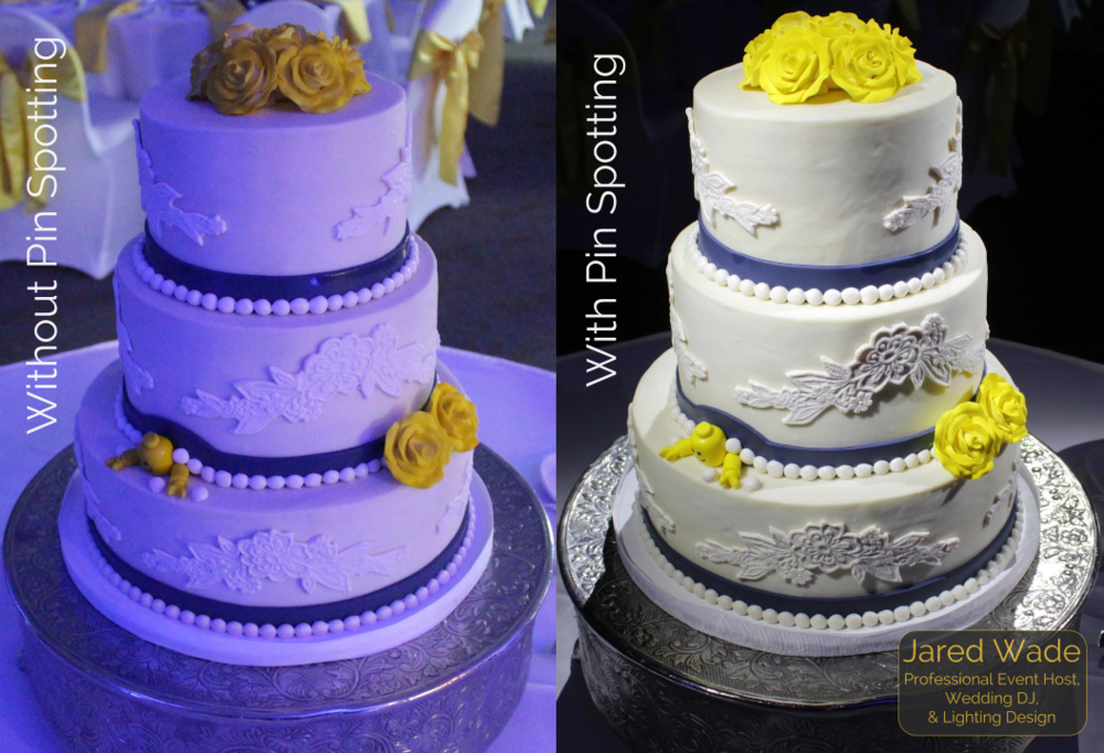 Indianapolis Wedding Pin Spotting Cake DJ