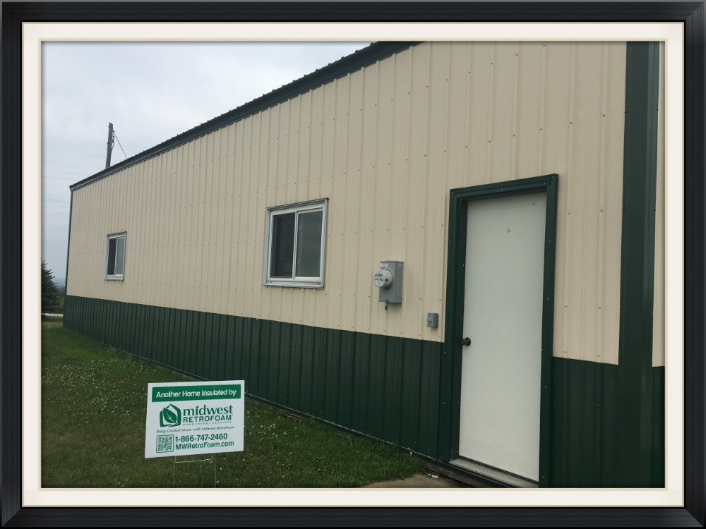 Metal pole buildings with plywood or some other interior sheathing can be insulated to increase efficiency and keep out rodents and pests. 1 day is all it takes!