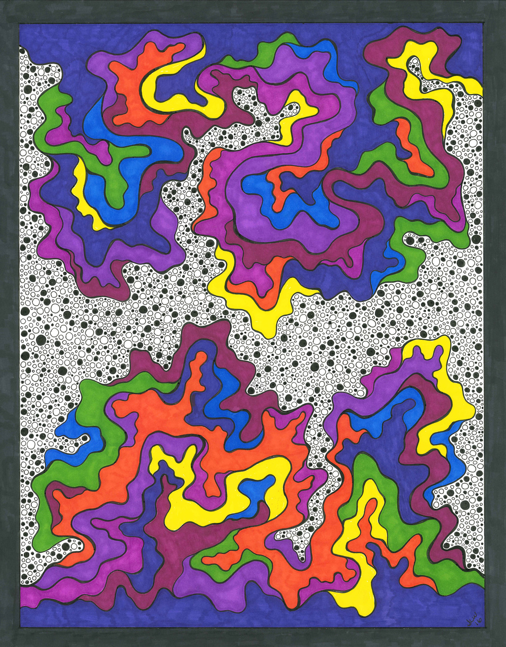 Untitled, 2016, Pen & Ink, Marker
