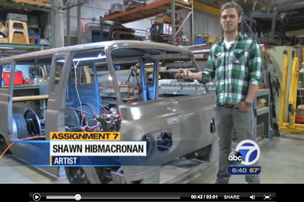 June 12, 2013 -ABC7 NEWS FEATURED THE KICKSTARTER CAMPAIGN IN A STORY ABOUT ARTISTS FINDING SUCCESS VIA THE INTERNET.