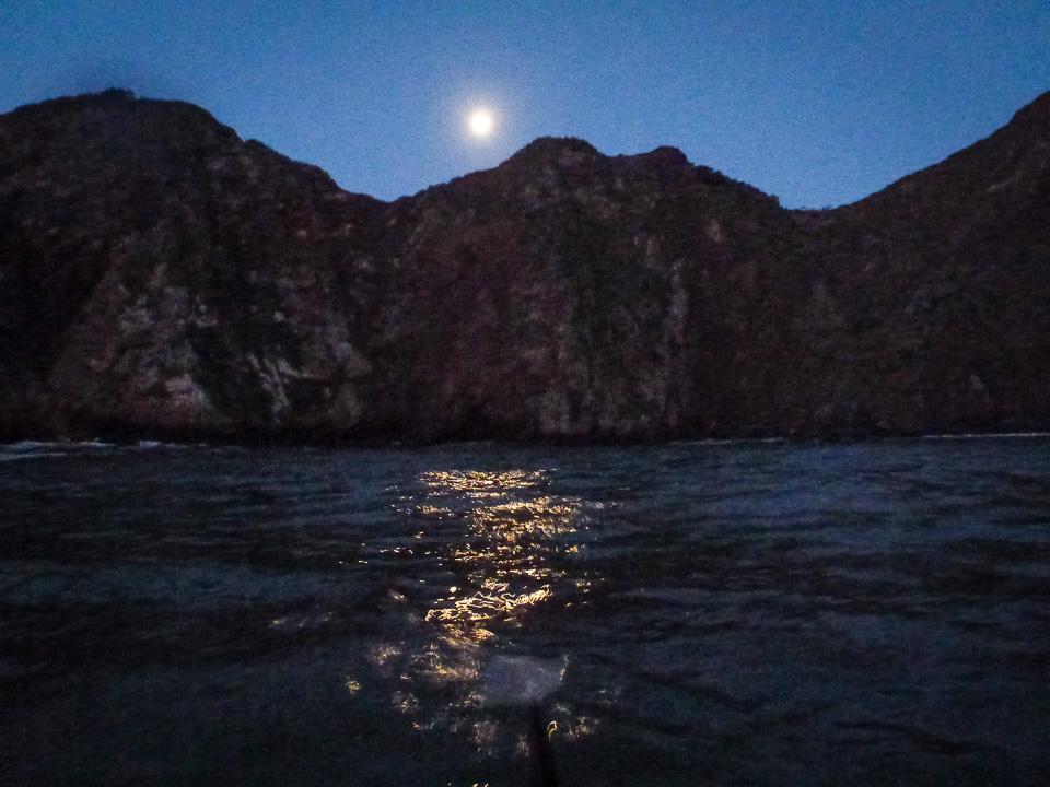 7 a.m. -- Moon over Point Diablo