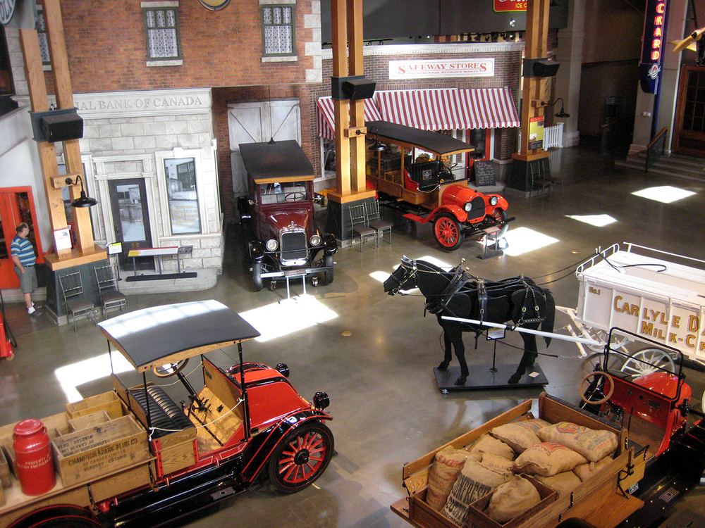 Gasoline Alley at Heritage Park, Calgary, Alberta.