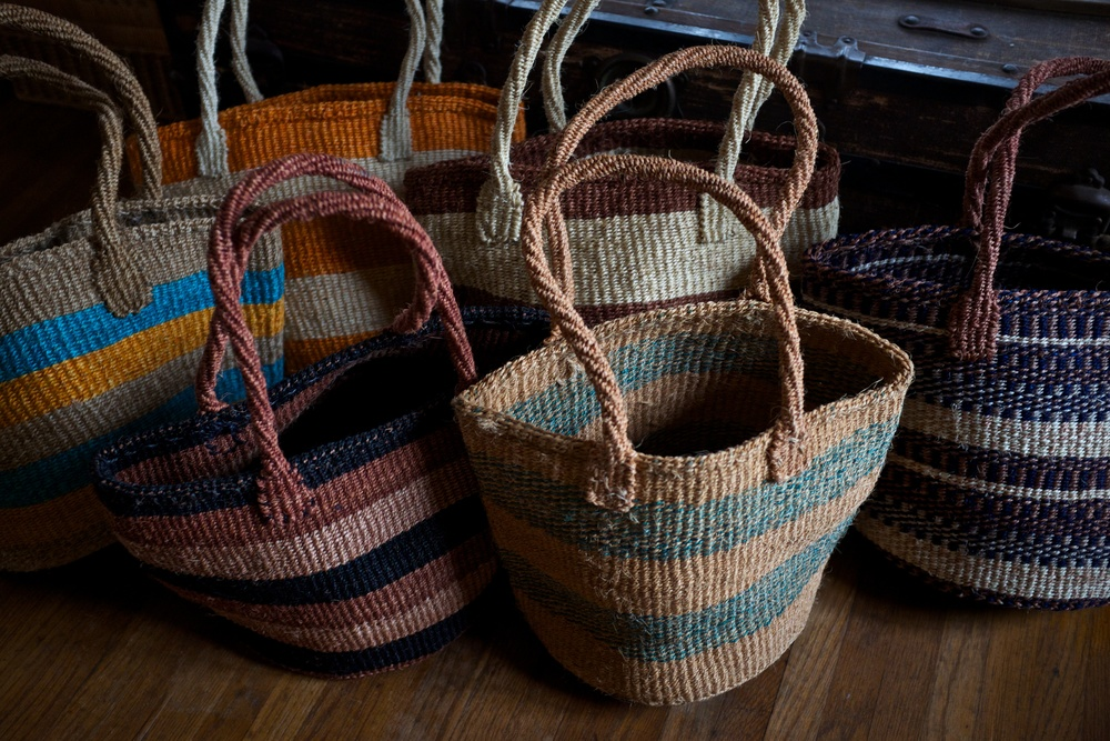 Handmade bags from Kenya that we will be selling at the Christmas Collective.