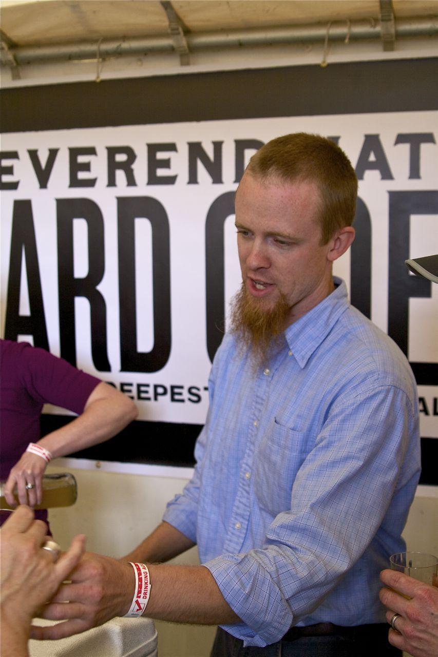 The Rev himself, Nat West of Reverend Nat's Hard Cider