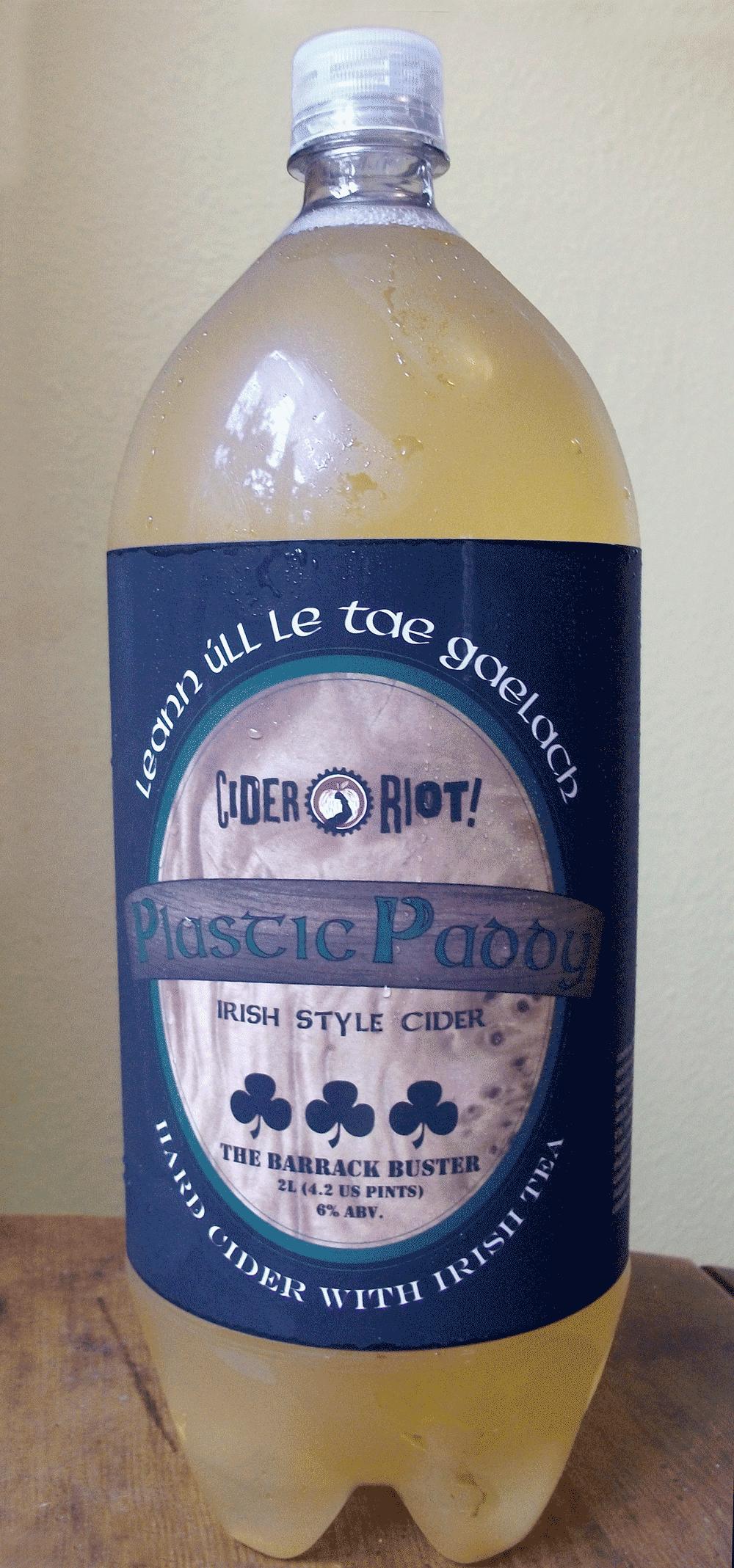 Cider Riot! Plastic Paddy Irish Style Cider