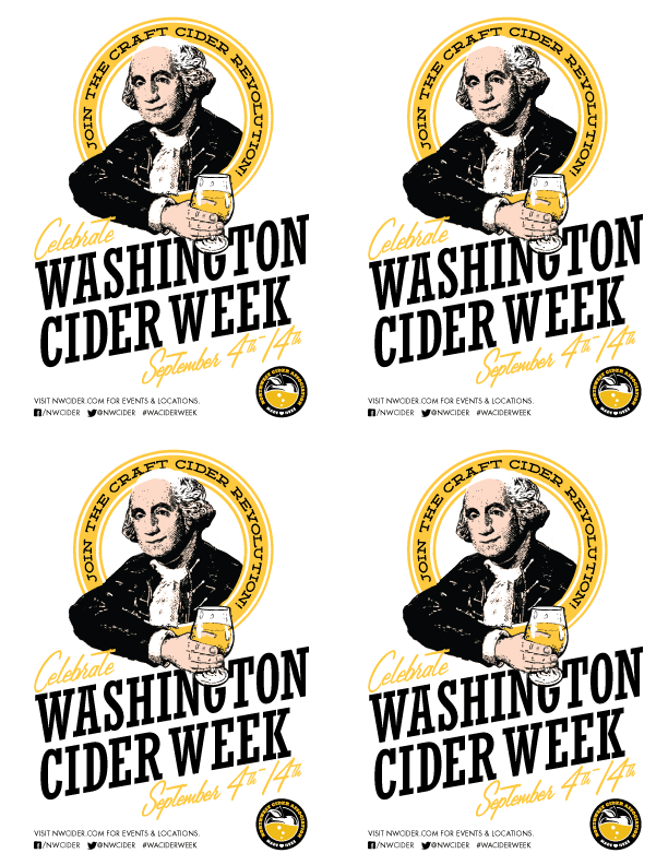 "Washington Cider Week 8.5""x11"" 4UP Handbill 13.3MB"