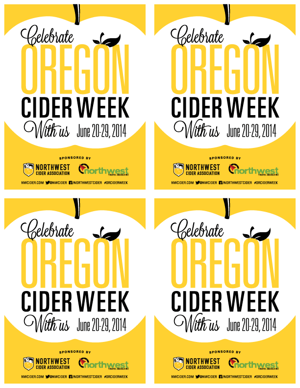 "Oregon Cider Week 8.5""x11"" 4 Up Handbills"