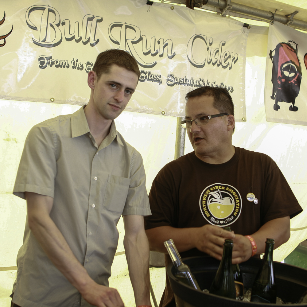 Northwest Cider Association members Galen and Pete from Bull Run Cider will be at Cider Summit Portland.