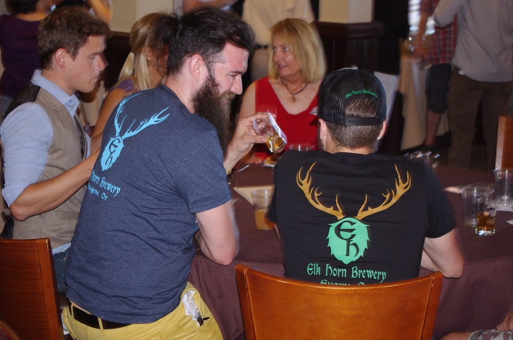 The cider industry was well represented at the awards party, including the crew from Elk Horn Brewery and Cider House from Eugene, OR.