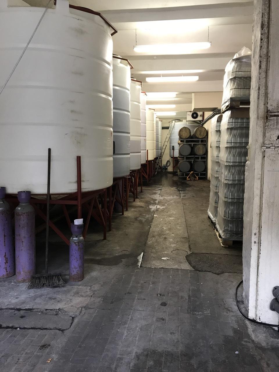 Pilton's keeving tanks.
