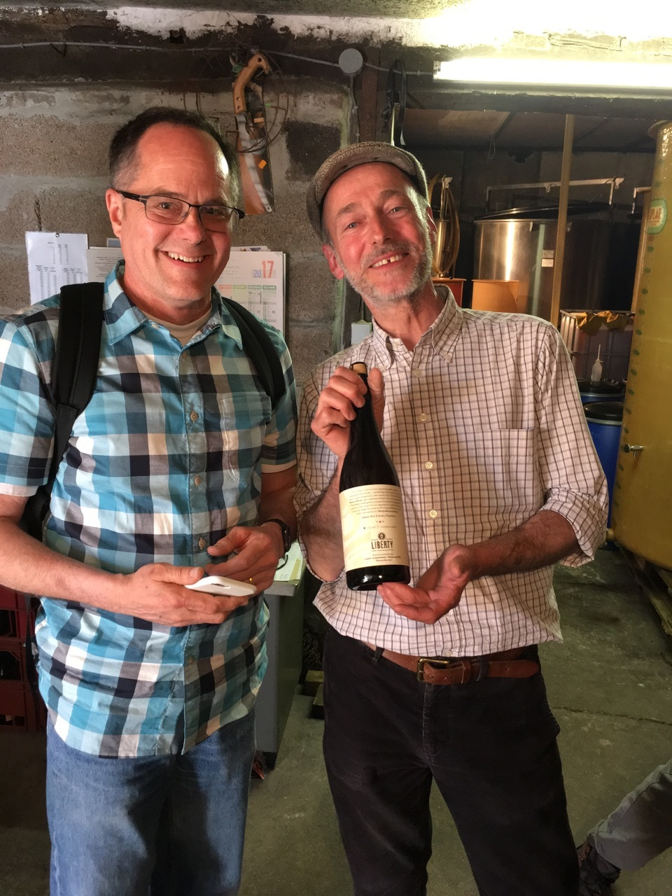 Cyril Zang with Rick from Liberty Cider Works.