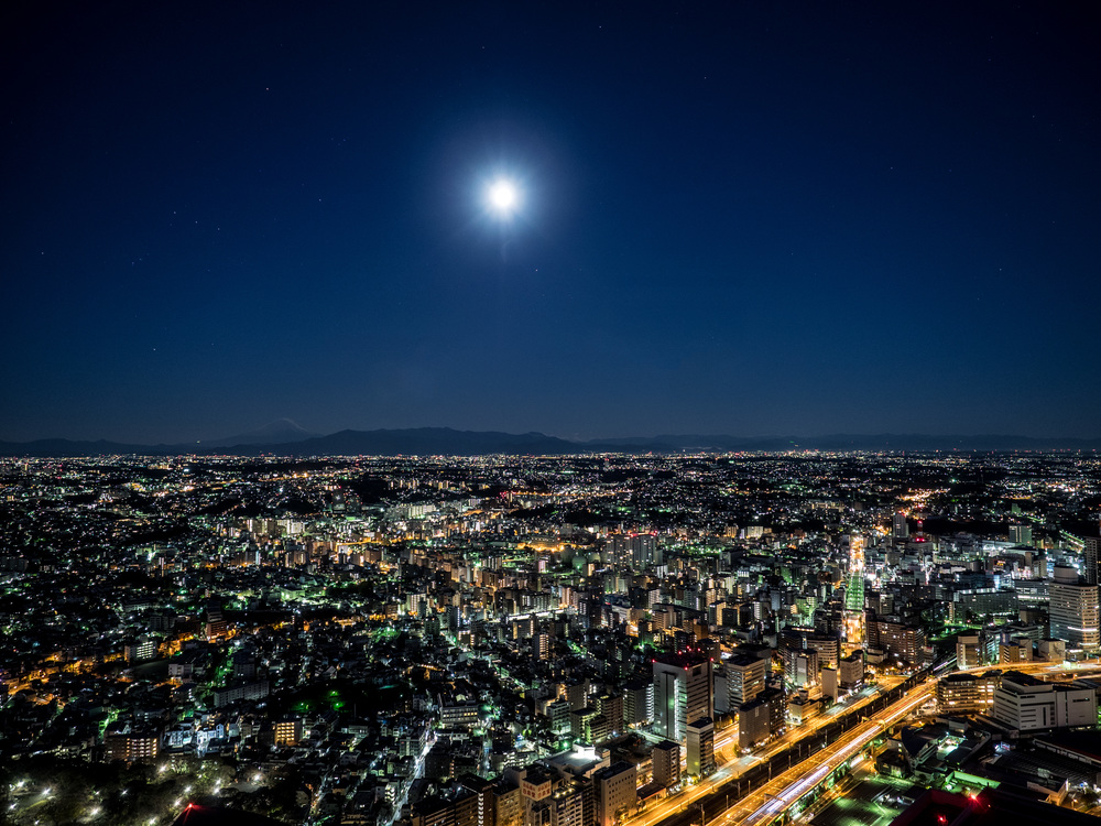 Yokohama and Mt Fuji by moonlight.jpg