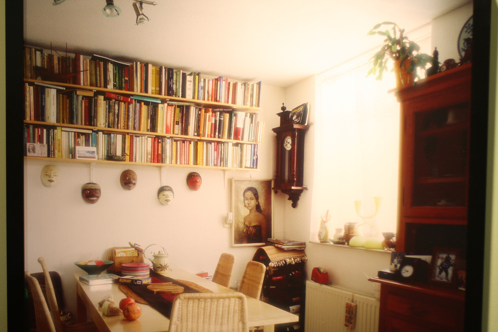 These are my photographs of photographs depicting the living spaces of contemporary Indo people living in Holland