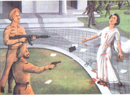 It was Gandhi's Sikh bodyguards who carried out the assassination, in retaliation for her fateful actions in Amritsar