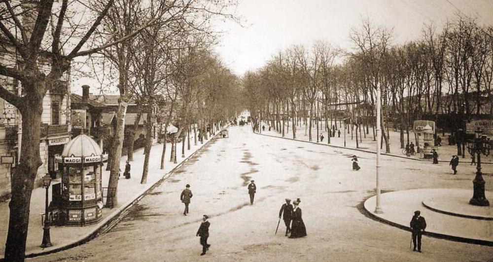 Le boulevard au début du 20e siècle