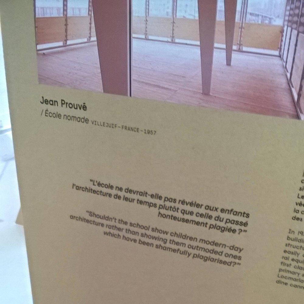 Vue à l'exposition : «matière grise »  du pavillon de l'Arsenal à Paris.
