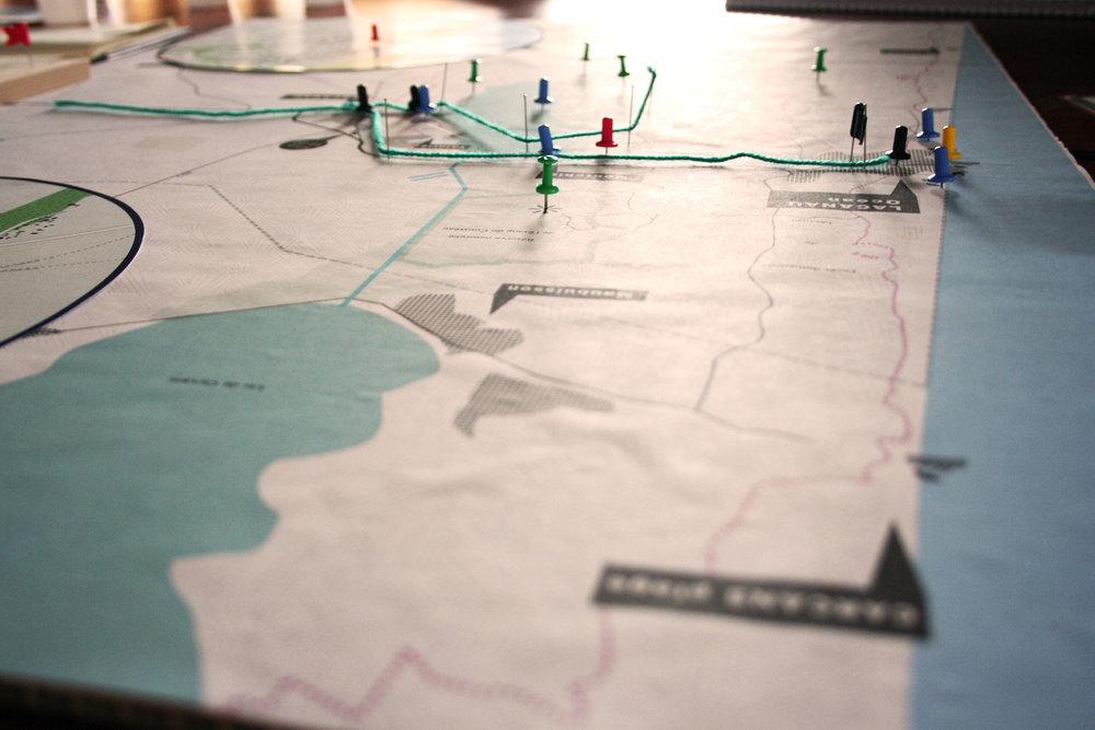 Carte collaborative élaborée pendant le Bivouac #1