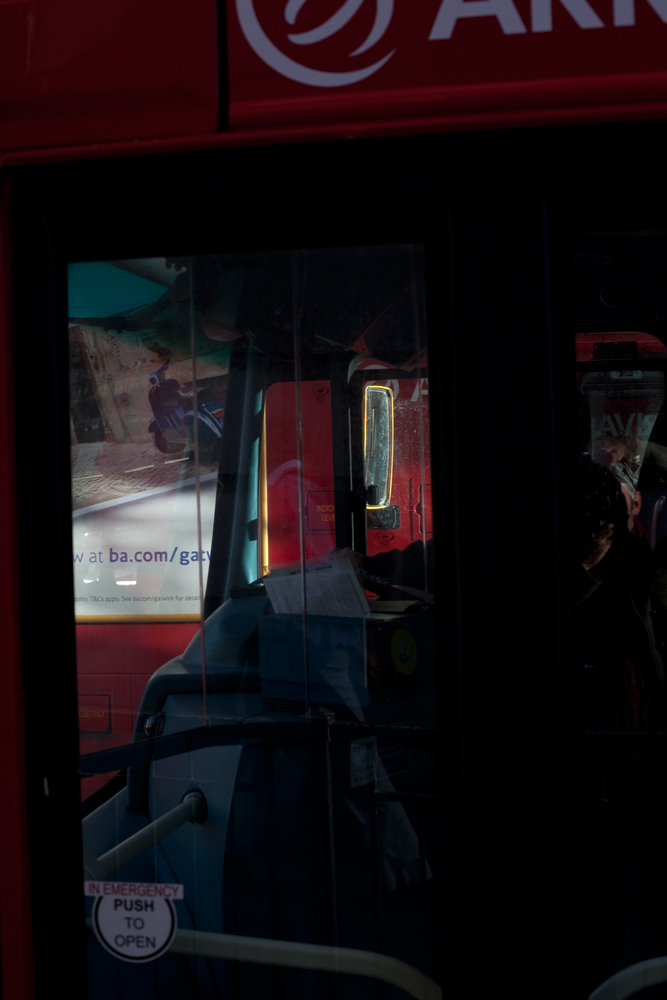 London Bus abstract by David Woolfall