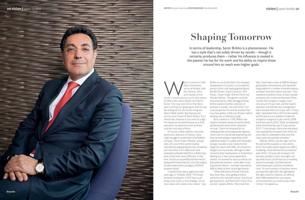 Samir Birkho in Bespoke Magazine