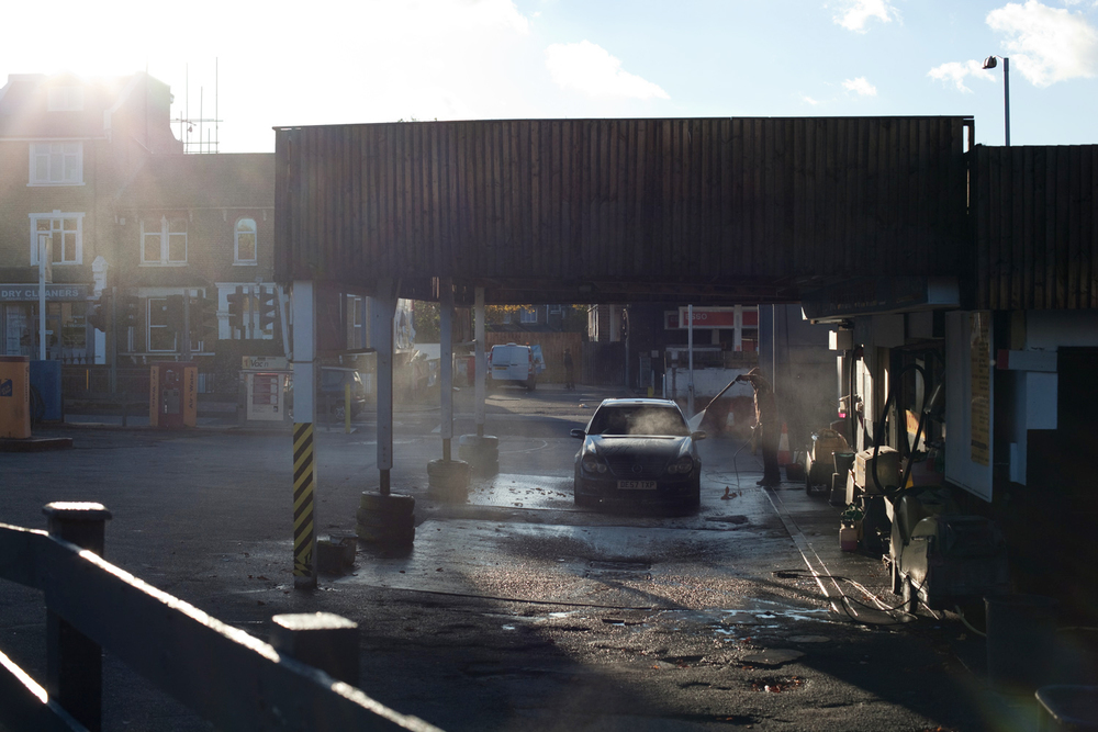 Car wash, Brockley, London