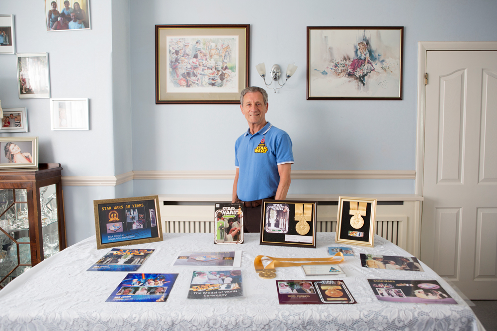 Nick Joseph at home in Essex with his Star Wars   Memorabilia