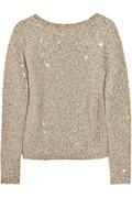 Oscar de la Renta silk & sequin cotten blend sweater