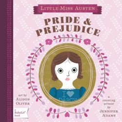 Pride & Prejudice board book by BabyLit, one of many classic titles created for toddlers.