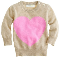 F  or those who buy baby's cashmere sweaters, this one's for you:   Crewcuts  .