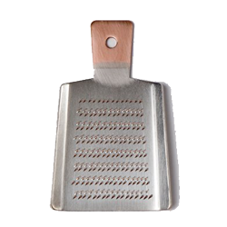 A  handmade copper grate r that is the perfect marriage of form and function.  It grates cleanly and never crushes. canoeonline.net.