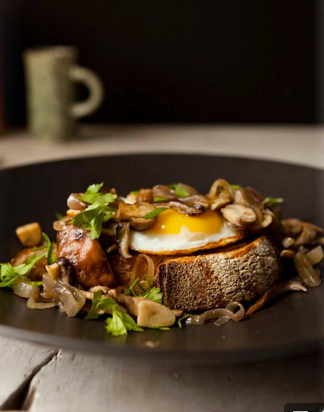 I'm making this: Brooklyn truffled egg toast. Recipe in the Winter issue of Good Company.
