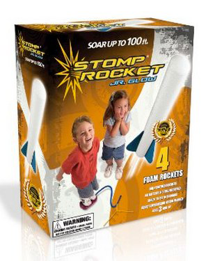 Stomp Rocket Jr. air powered rocket toy. So simple, yet so fun.