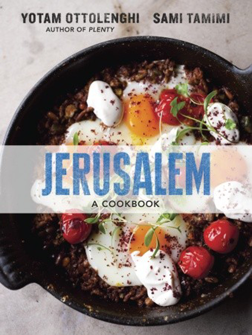The cookbook that is an international obsession. Written by London-based restaurateurs, Yotam Ottolenghi and Sami Tamimi, both born in Jerusalem in the same year. Tamini was born on the Arab east side and Ottolengui in the Jewish west.