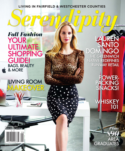 Labor Day Beach Bag must-have! The Fall Fashion issue is on newsstands now. Serendipity is Fairfield & Westchester County's leading lifestyle Magazine.