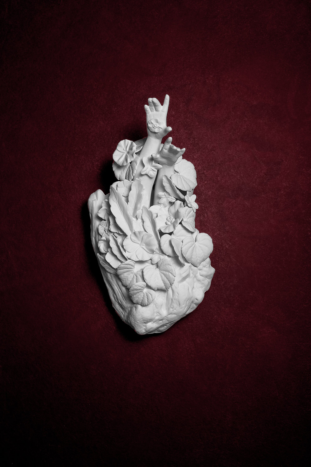 Fall from grace (Beautiful absense)  Medium: Slipped cast porcelain ceramic, hand build & altered forms Dimensions:  Year: 2019  Photography by: David Gary Lloyd