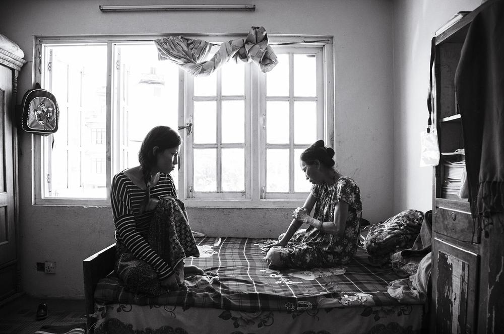 Anu and her mother,Phoolmaya.