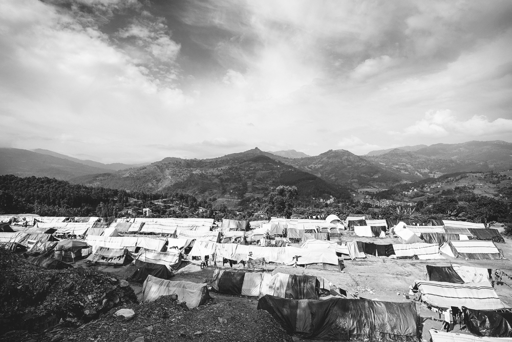 An estimated 2.8 million people were displaced following the 7.8 magnitude April 2015 earthquake in Nepal. With over 500,000 homes destroyed, affected families have been living temporarily in displacement camps since.   Alchi Danda camp in Nepal's district of Dhading is a temporary home to those who fled their homes in Tipling and Jharling.