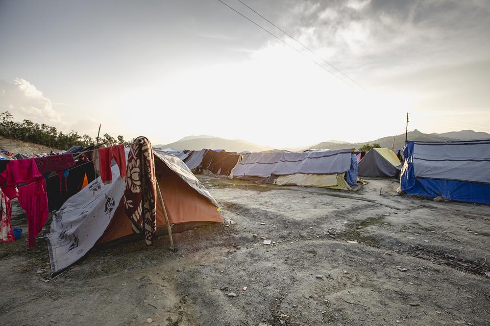Alchi Danda displacement camp. Dhading, Nepal.