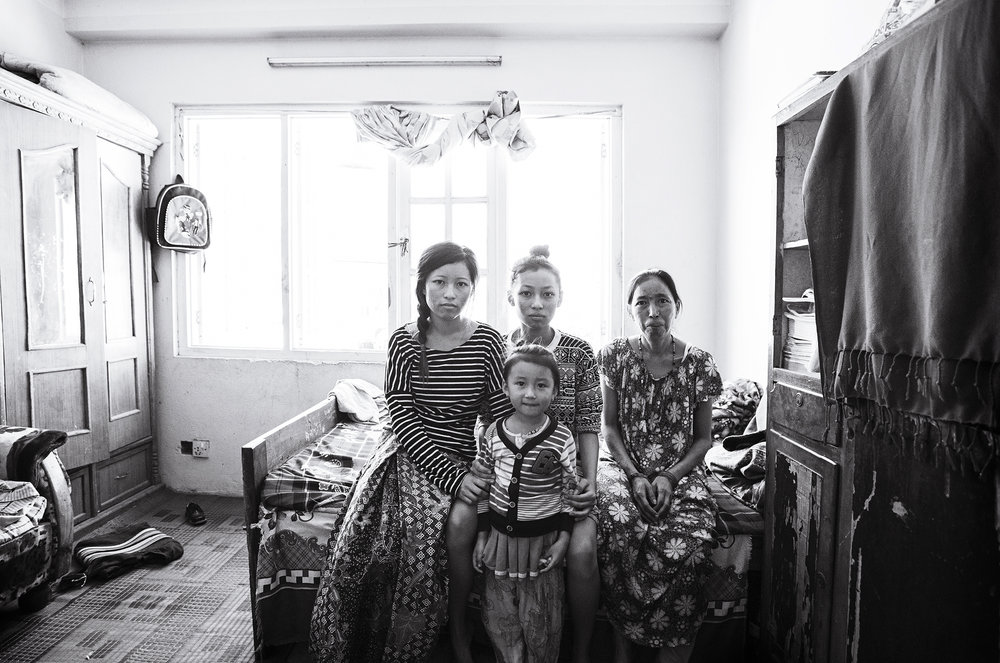 Anu (21), Anita (14), Phoolmaya & Anjika (6)