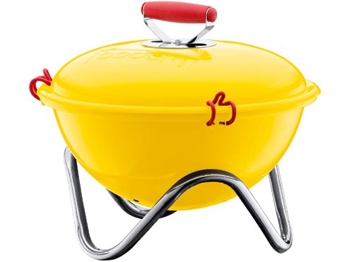 Bodum Fyrkat Picnic Charcoal Grill 13.4 in. Yellow at Cooking.com