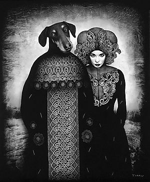 Dog Art Today: Timur Tsaku: Angel Dogs